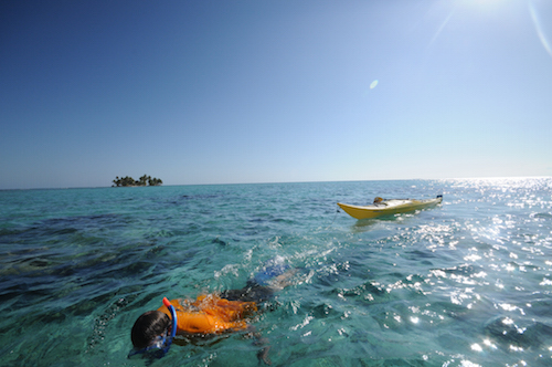 Sea kayaking and snorkeling on the Paradise Islands Trip