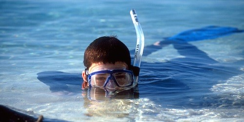Belize snorkel kids