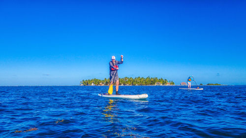 SUP at Tobacco Caye, Belize