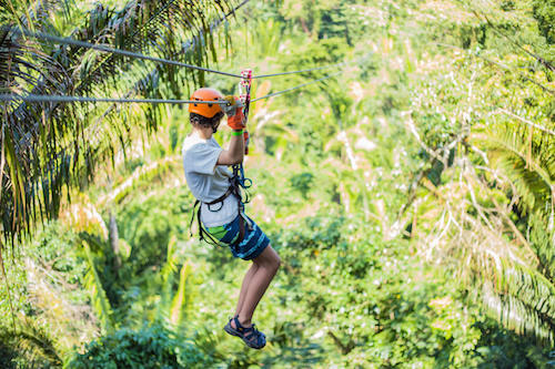 Ziplining at Bocawina