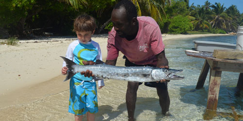 Discovering fish at Lighthouse Reef