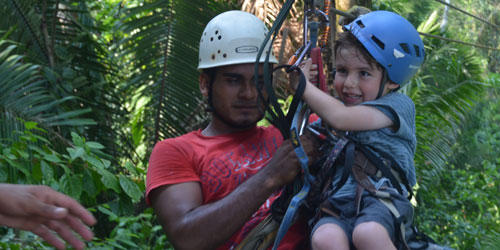 Zip-lining at Bocawina Rainforest Resort