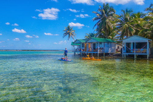 Kayaking anf SUP at Tobacco Caye