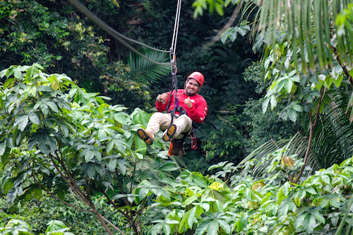 Ziplining at Bocawina Rainforest Resort and Adventures