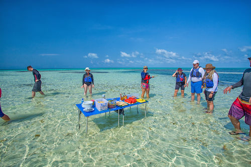 Lunch on Glovers Reef