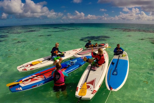 Family SUP in Belize