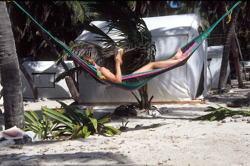 Hammock time at Lighthouse Reef Basecamp