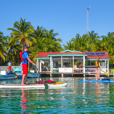 SUP at South Water Caye