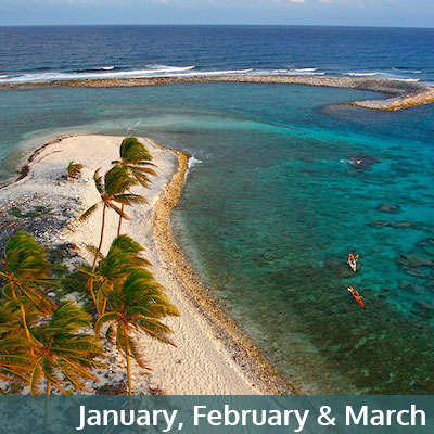 January, February and March Belize