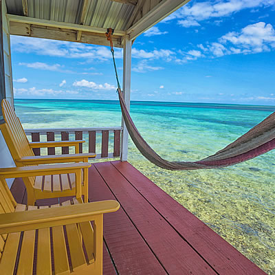 Deck at Tobacco Caye Paradise