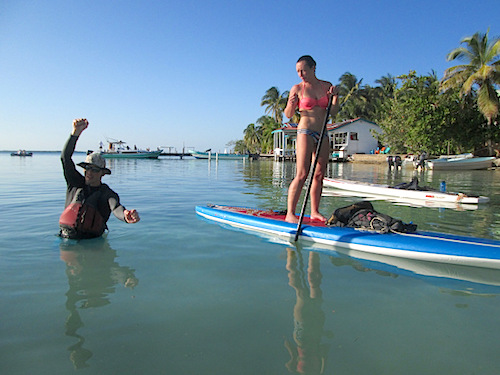 Norm Hann SUP in Belize
