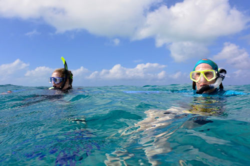 Snorkelling at the Blue Hole
