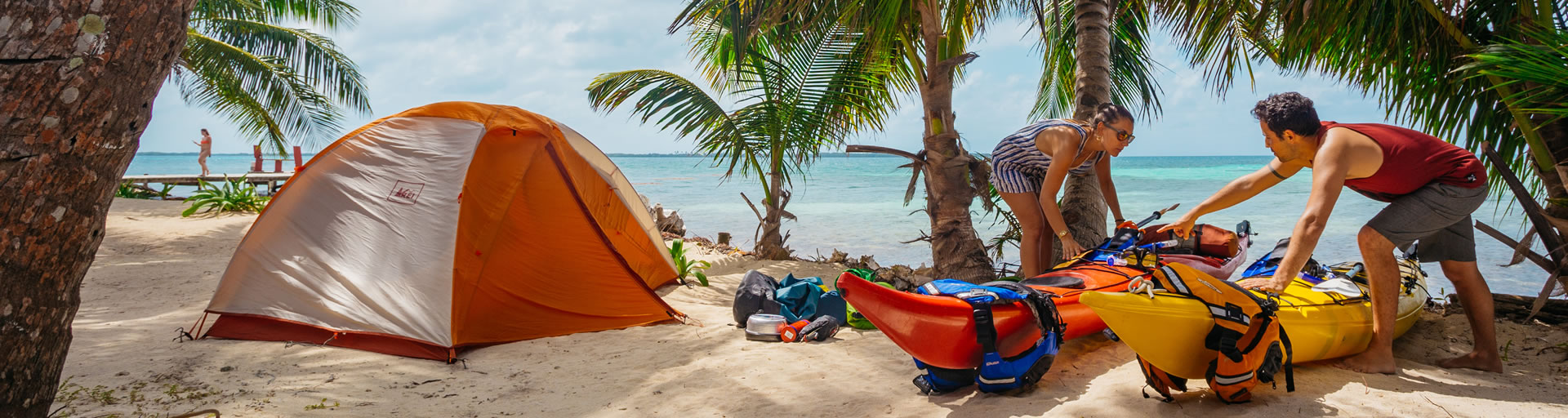Sea Kayak Camping in Belize - Kayak Rentals in Belize