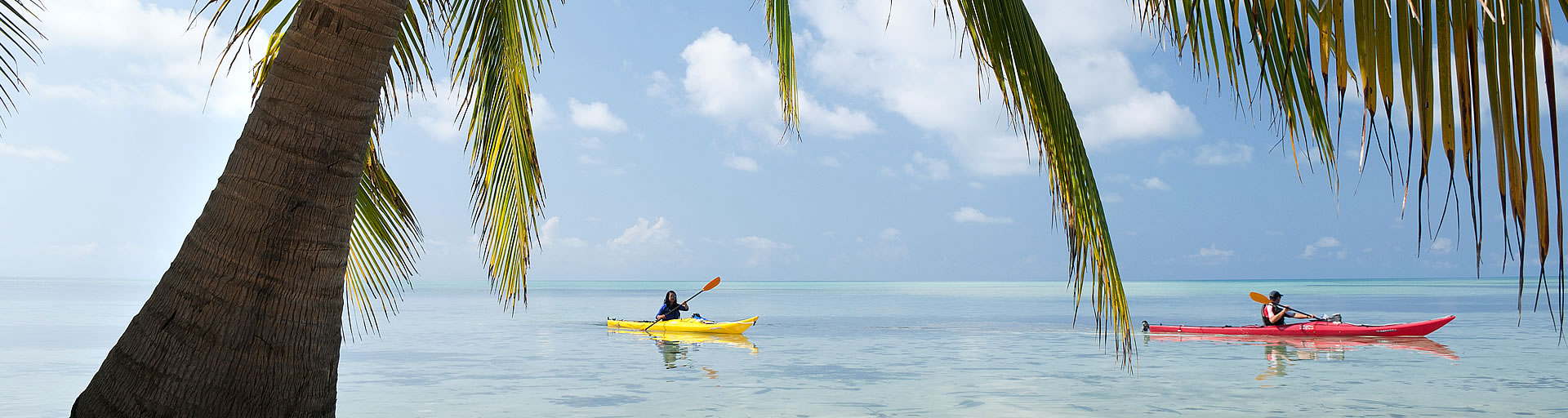 Sea Kayaking at Glover's Reef