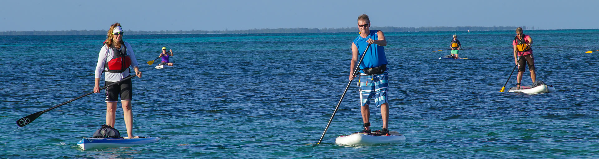 Stand Up Paddleboard (SUP) along Belize Barrier Reef