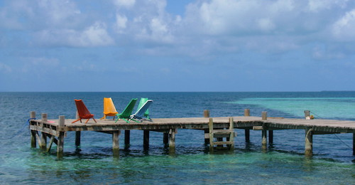 Dock at Tobacco Caye
