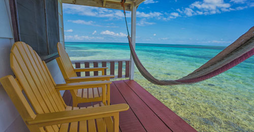 Decks at Tobacco Caye Paradise
