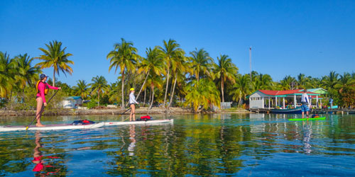 SUP at South Water Caye Lodge