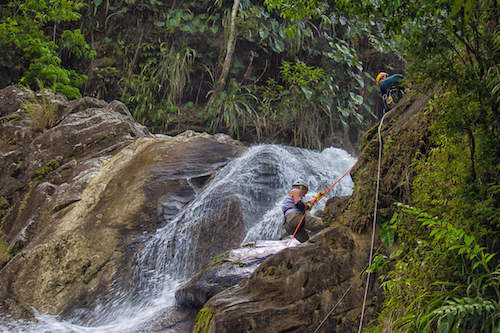 Waterfall rapelling at Bocawina