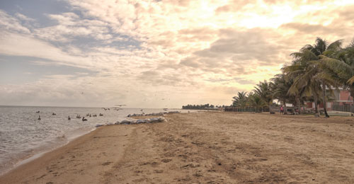 The beach at Dangriga
