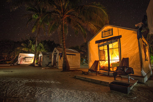 Night at Glovers Reef Basecamp