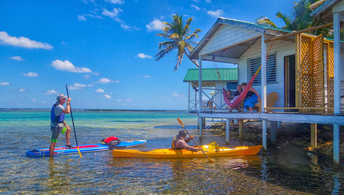 SUP at Tobacco Caye
