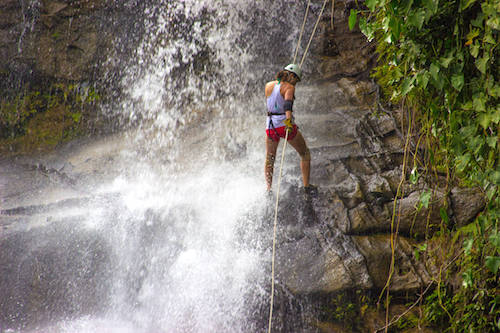 Waterfall Rappell Belize