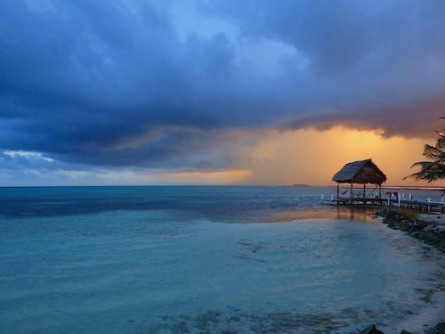 Sunrise over Southwest Caye