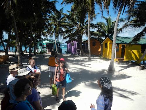 Meeting the guides and guests at Tobacco Caye