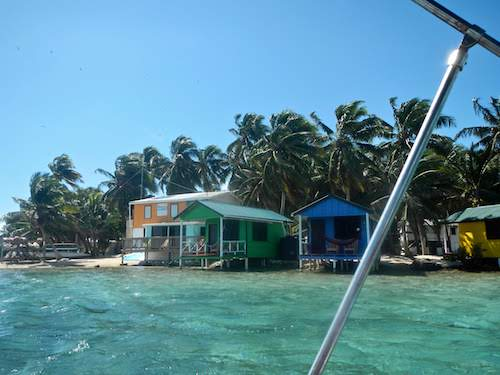 Arriving at Tobacco Caye Paradise Lodge