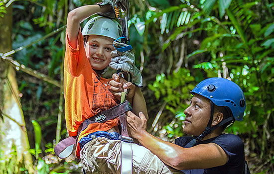 Zipline with family in Belize
