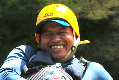 Our most experienced guide for whitewater river adventures in Belize, Central America.