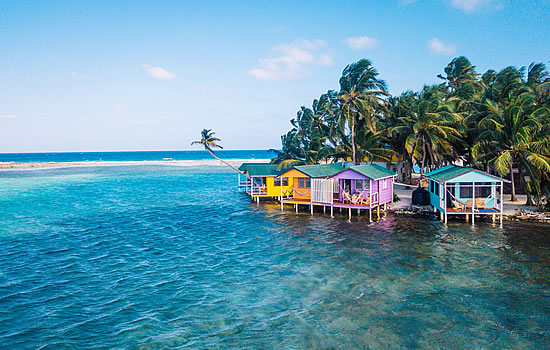 Tobacco Caye Paradise Cabins over the water