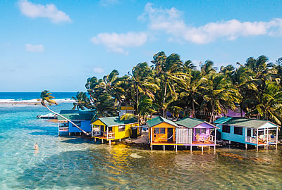 Tobacco Caye Paradise Cabins in Belize