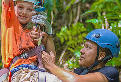 Zipline and jungle tours based from an all-inclusive resort in Belize, Central Amer