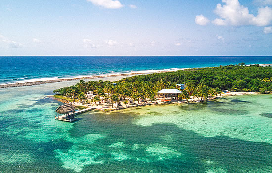 Belize Cayes from the air