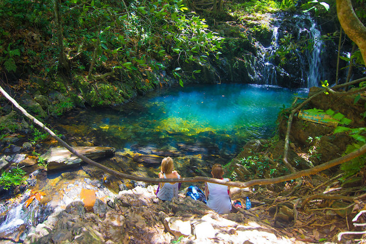 Emerald pool in the Mayflower Bocawina National Park, Belize