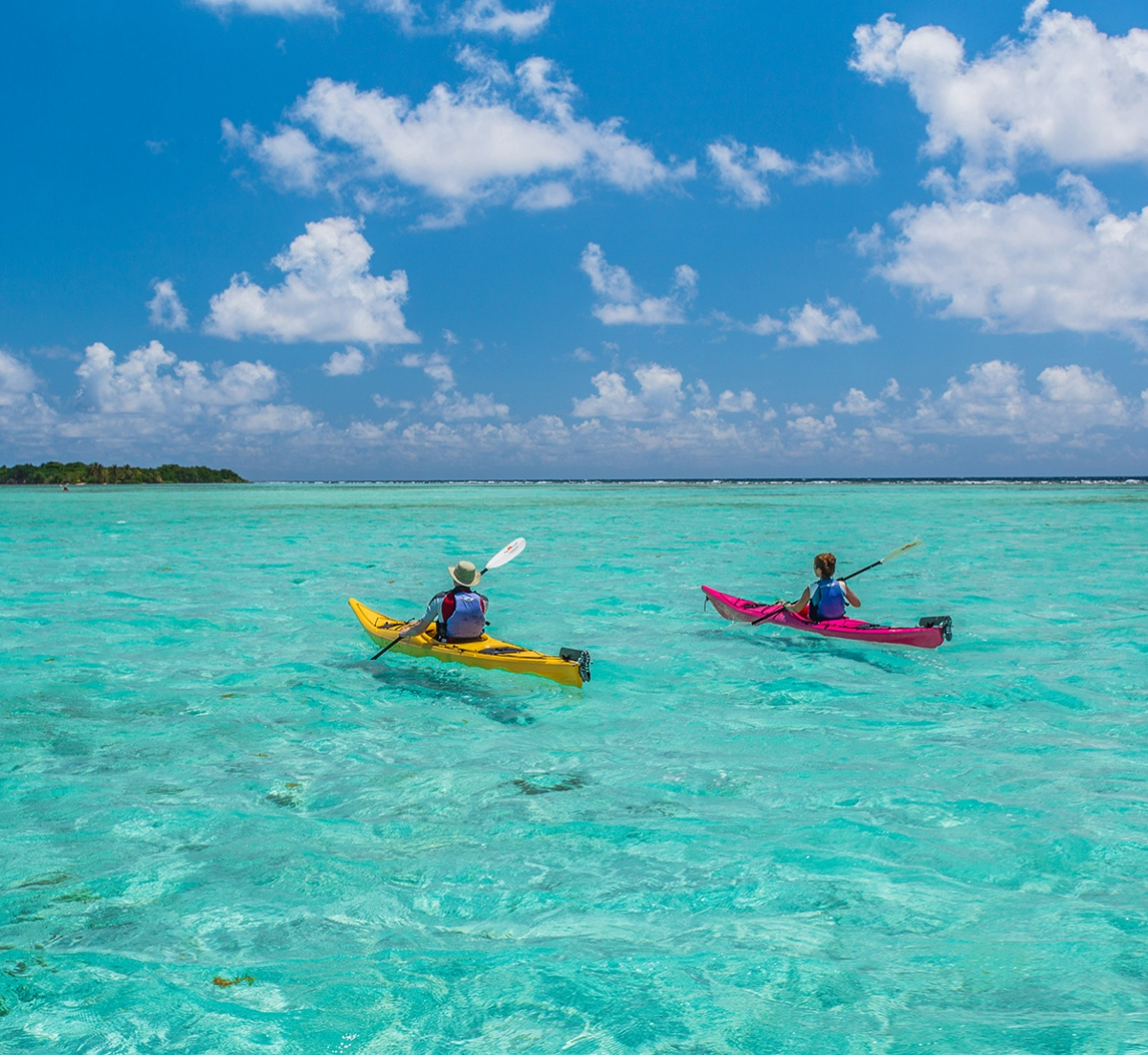 Kayaking on Glover's Reef, Belize