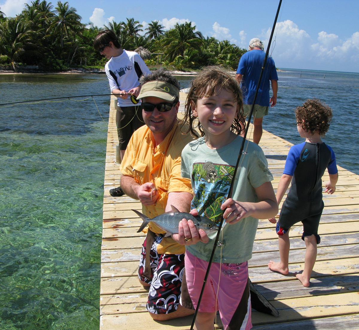 Kids Fishing Belize