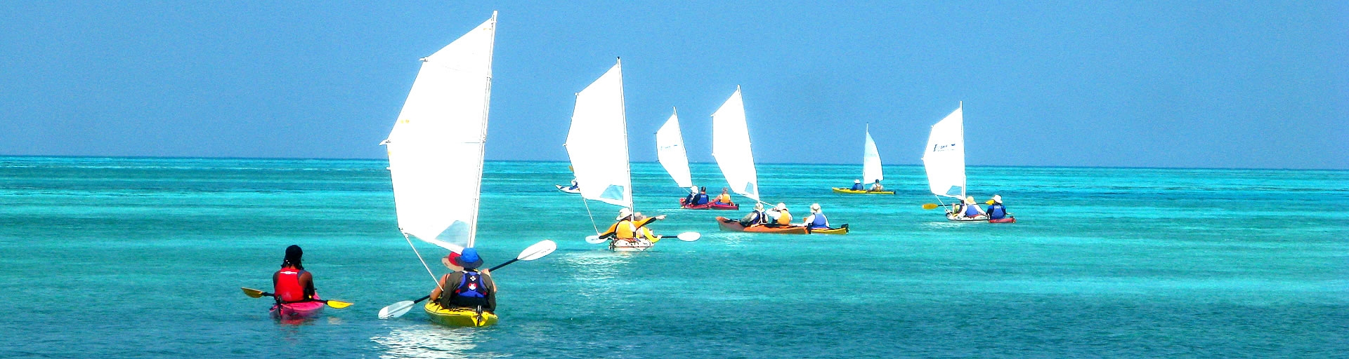 Kayak Sailing Belize Barrier Reef