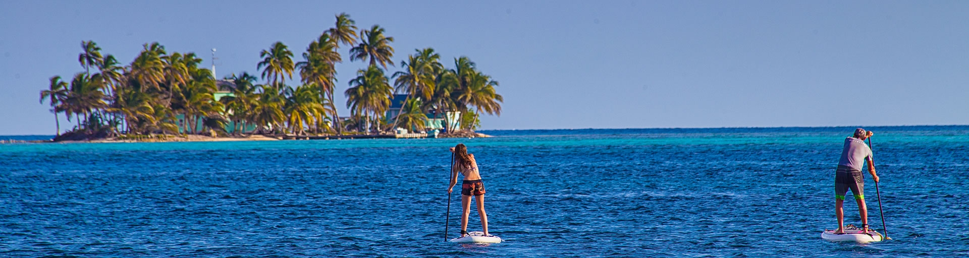 Paddleboard out to sea
