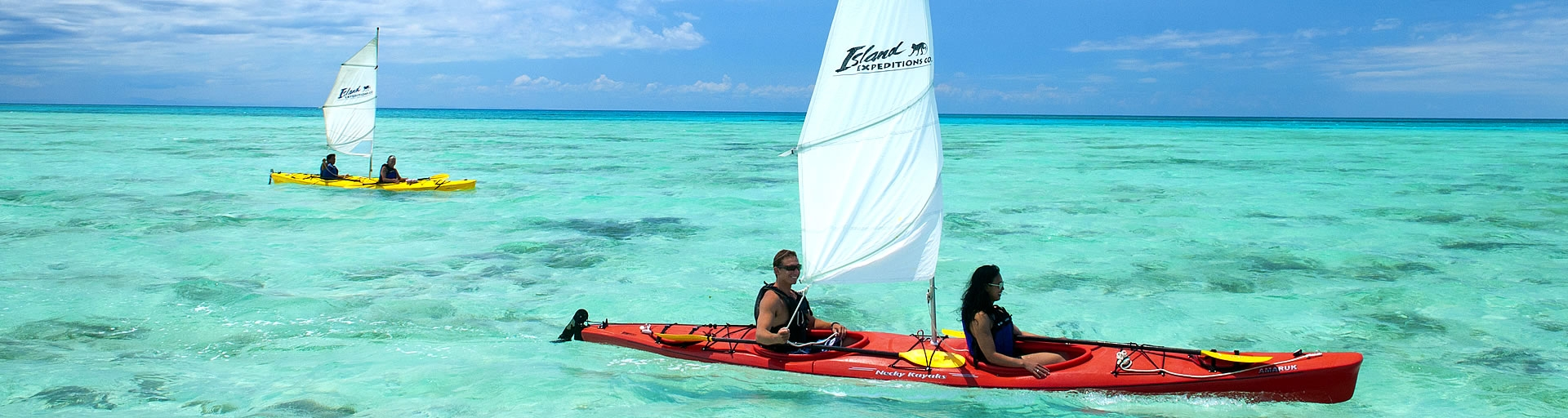 sea kayak sailing in Belize