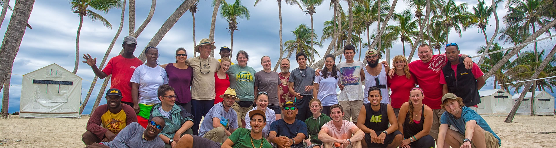 belize school and university group at lighthouse reef