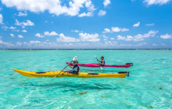 Kayaking on the Glover's Reef Atoll