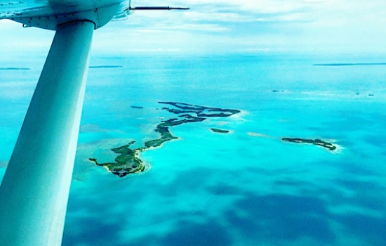 Flying over the Belize Barrier Reef