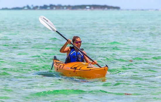 Sea Kayaking by Southwater Caye