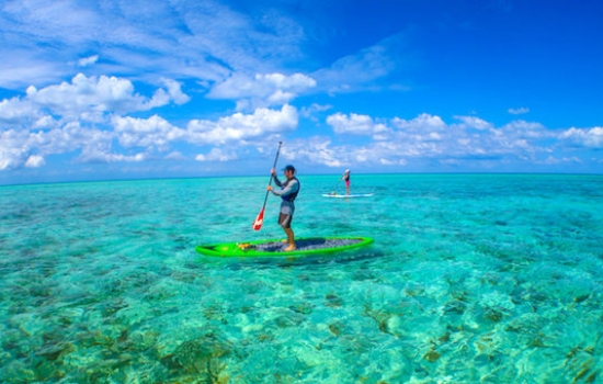SUP on Glovers Reef