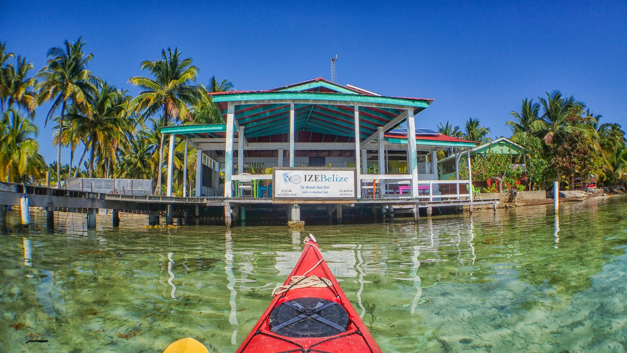 Kayak upto the bar on Southwater Caye