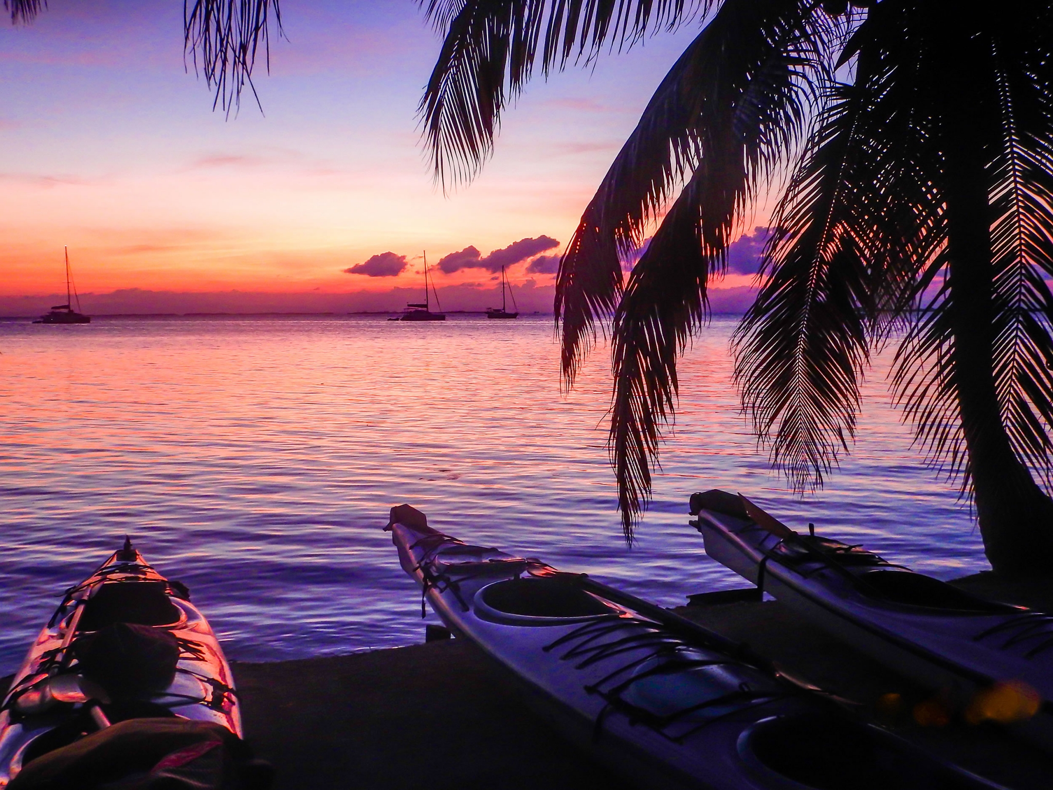 Sunsets and Kayaks at Southwater Caye