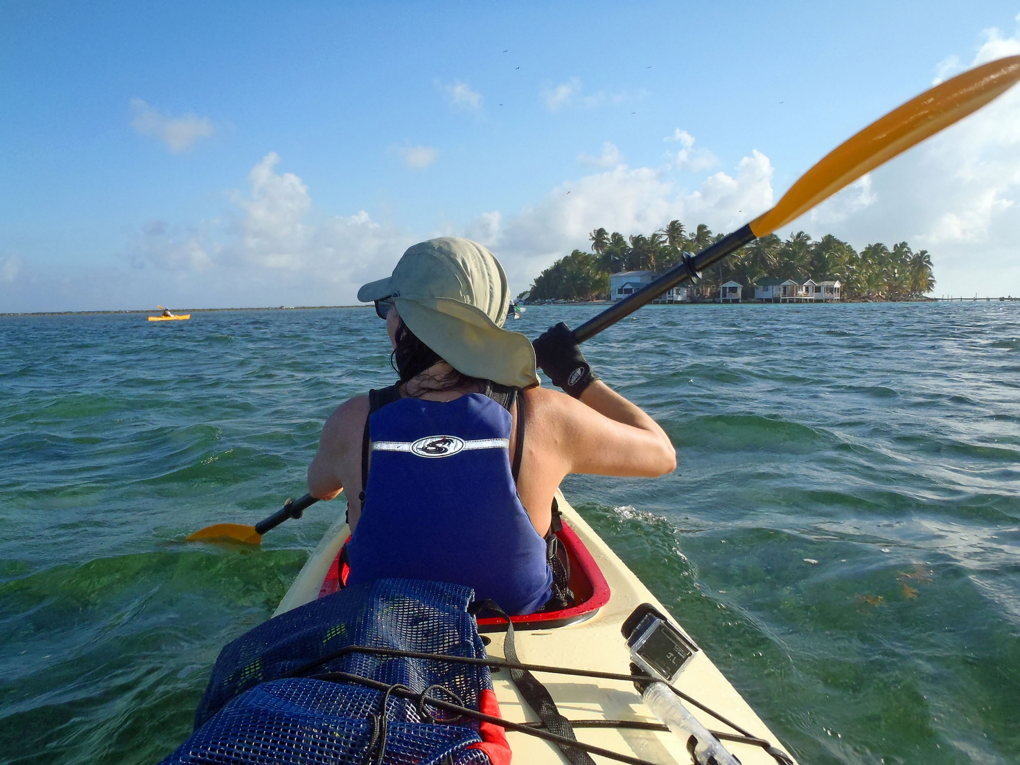 Sea Kayaking to Tobacco Caye